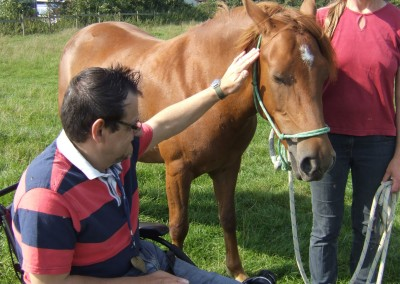 Bodster learner interacts with horse