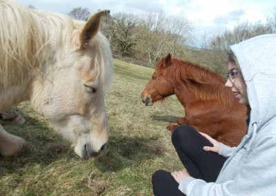 Learner chilling with Bodster pony herd